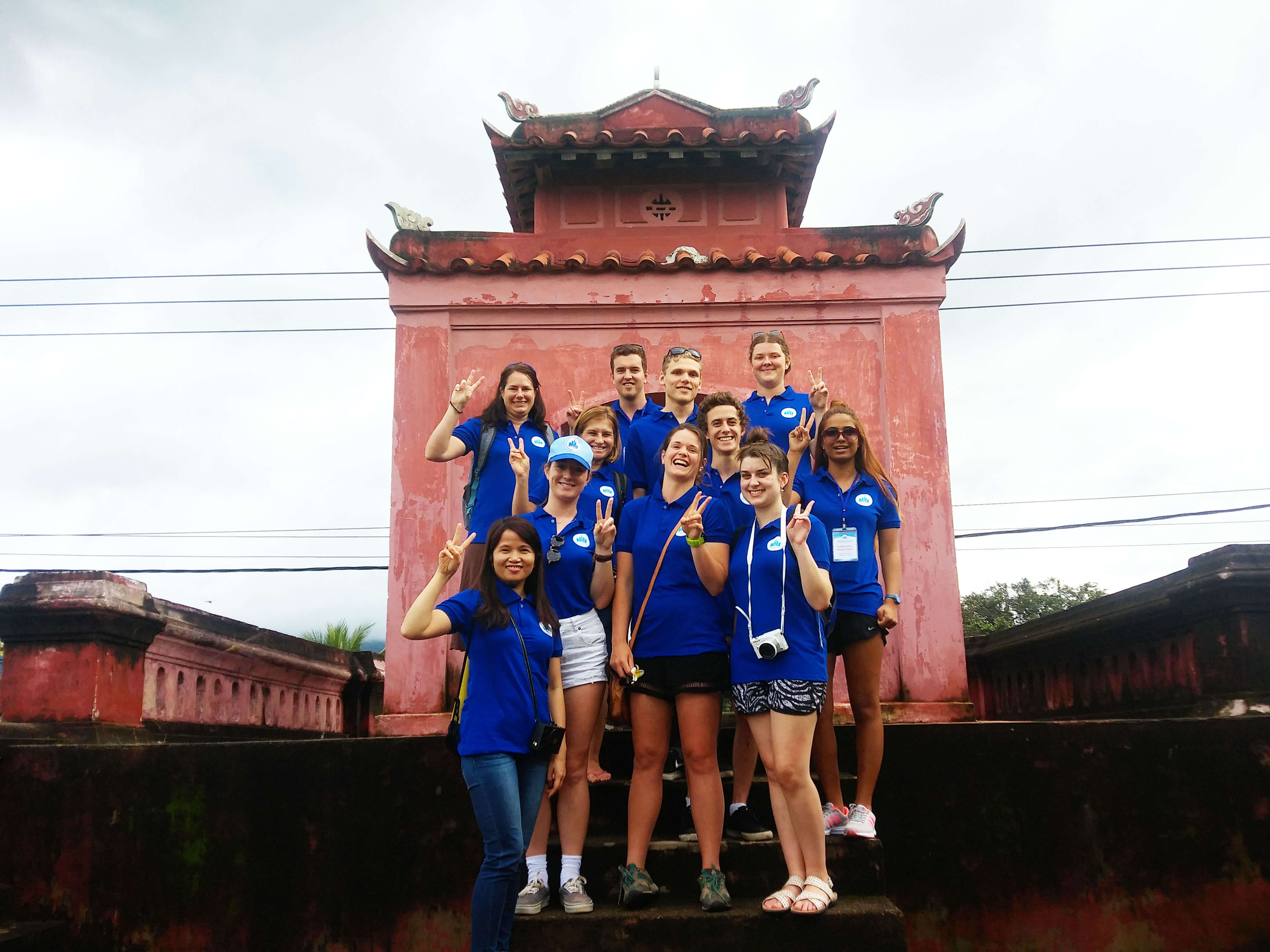 Students from Southern Cross University, Australia attend a summer program at NTU